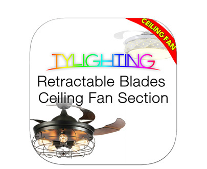 TY Lighting Retractable Blades Ceiling Fan T.Y.L Retractable Blades Ceiling Fan 天怡申縮風扇燈 天怡申縮吊扇燈