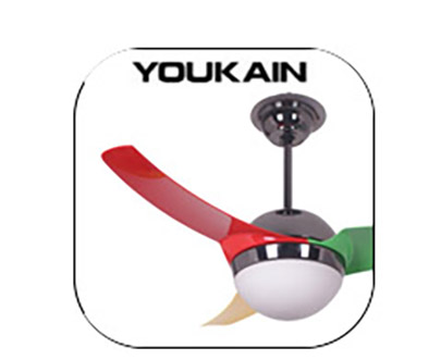 Youkain 風扇燈 吊扇燈 LED Ceiling Fan