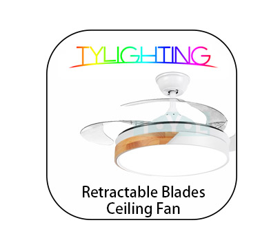 TY Lighting Retractable Blades Ceiling Fan T.Y.L Retractable Blades Ceiling Fan 天怡伸縮風扇燈 天怡伸縮吊扇燈